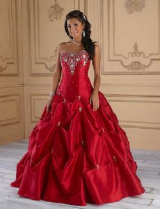 Red quinceanera dresses in Houston TX
